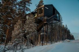 Zevende kamer voor het Treehotel in Zweden – Snøhetta