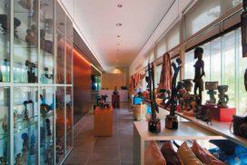 Entree winkel en auditorium afrika museum in berg en dal door