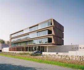 Kantoorgebouw Omega Pharma in Nazareth door Ysenbrandt & Partners