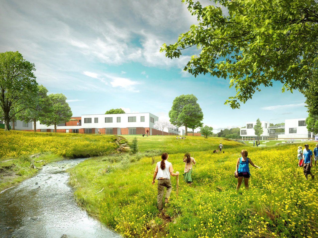 2DVW Architecten en Landschapsarchitectuurbureau uit Rotterdam winnen prijsvraag Wonen met Water in Aalst