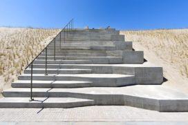 Strandtrappen op tweede maasvlakte de architect