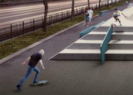 Ontwerpers over het nieuwe skatepark op Westblaak.