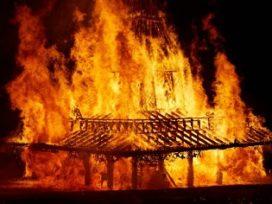 Great Fire of London uit 1666 in het klein