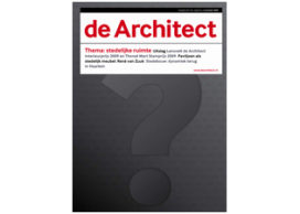 Wie siert de cover van de Architect november?