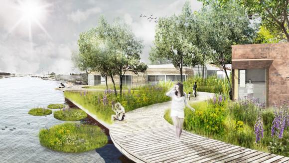 • De Ceuvel, pytoremediatie biomassa zuiverend -park (ontwerp delva-landscape-architects en space and matter)