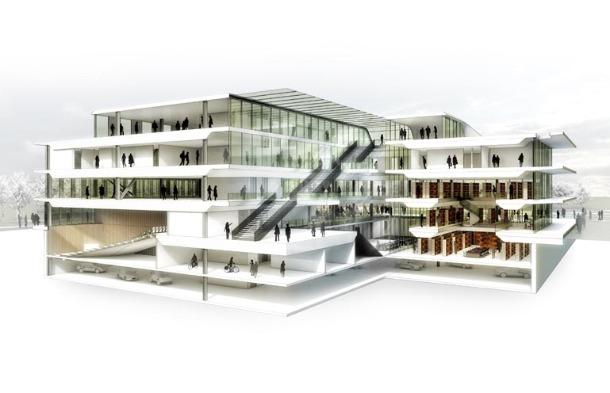 Benthem ontwerp radbouwcampus Recht