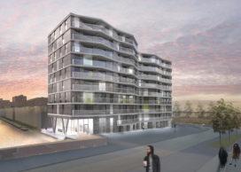 Start bouw blok 20 Haven Eiland West IJburg