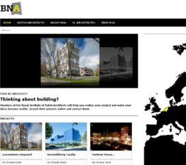 Nieuwe website Nederlandse architecten