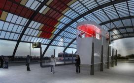Chauffeursruimte busstation Amsterdam CS door Benthem Crouwel