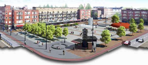 vernieuwde mercatorplein amsterdam