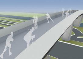 Fiets- en voetgangersbrug Deventer door ONL en Dura Vermeer