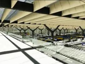 Bouw Rotterdam Centraal op de helft