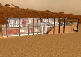 Strandpaviljoen Zandvoort door Bloem en Lemstra