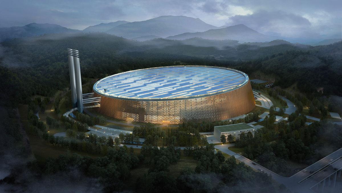 Afval_energiecentrale in Shenzhen door Schmidt Hammer Lassen en Gottlieb Paludan Architects