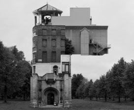 Eclectische collage-architectuur