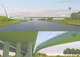 Eerste paal brug Wilhelminakanaal Tilburg