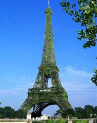 Geen groene Eiffeltoren