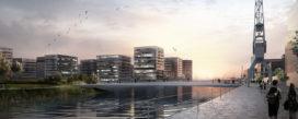 gmp wint opdracht fiets- en voetgangersbrug in Hamburg HafenCity