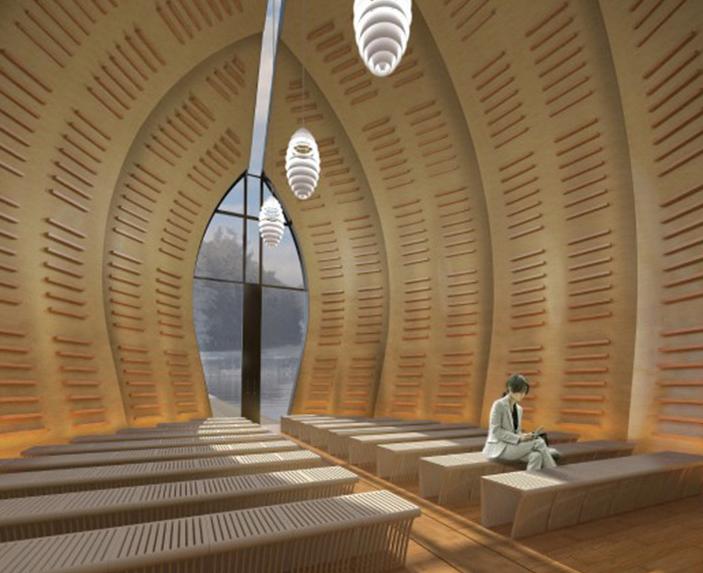 Render Ster Rene van Zuuk Drijvend paviljoen
