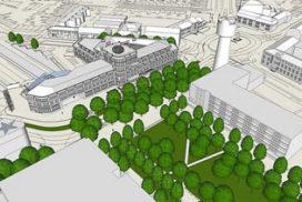 Schetsontwerpen nieuw stadhuis Den Helder