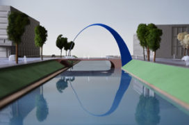 Belgen ontwerpen kunstwerk nieuwe brug Catharijnesingel