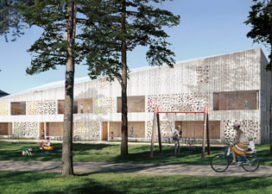 Hjältarnas Hus in Umeå door White Arkitekter