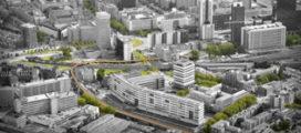 Architecten bouwen Luchtsingel met Rotterdammers