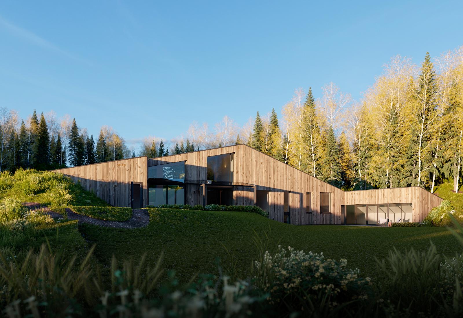 Render Ster van de Week - Woning Diepenheim door Maas Architecten - Impressies gemaakt door Triple D