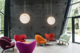 Patera pendant by Louis Poulsen expanded to include a larger and a smaller model