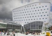 Nieuwe terminal en hotel door KCAP De Bever in Eindhoven