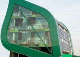 Informatiecentrum annex kantoorgebouw Ecofactorij in Apeldoorn