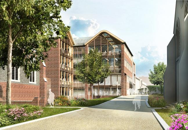 Brighton College_Academic Building door Hopkins Architects
