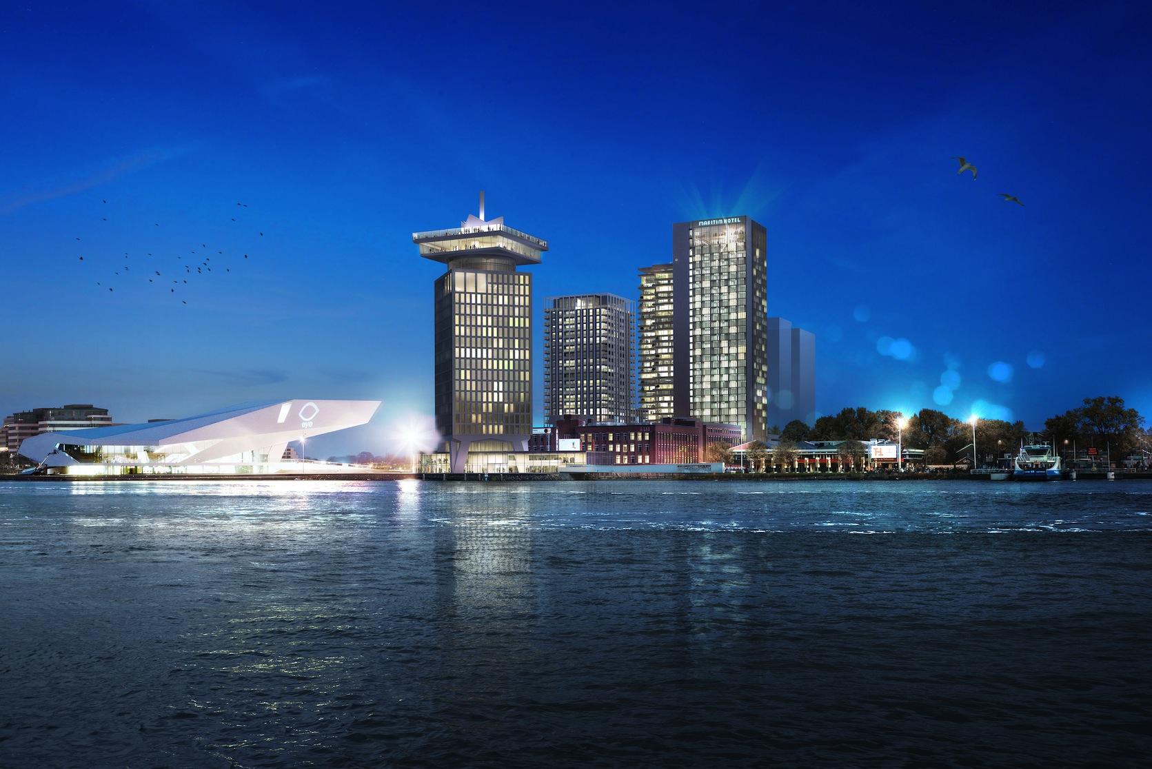 Hotel_ en woontoren Amsterdam IJoever_Team V Architectuur