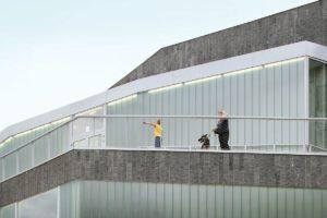 Cultureel centrum in Zinnik (B) door L Escaut samen met Studiebureau Weinand
