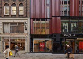 Het gebouw aan de South Molton Street Londen (GB)