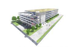 Parkeergarage Reinier de Graaf Delft ontworpen door MH1 Architectenbureau