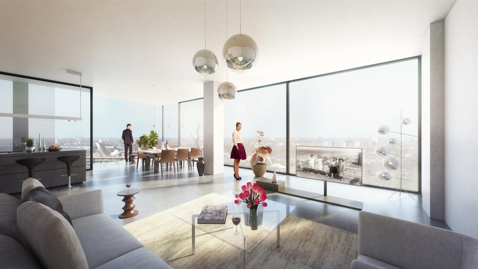 Transformatie belastingkantoor Rijswijk tot woongebouw door Mei Architects