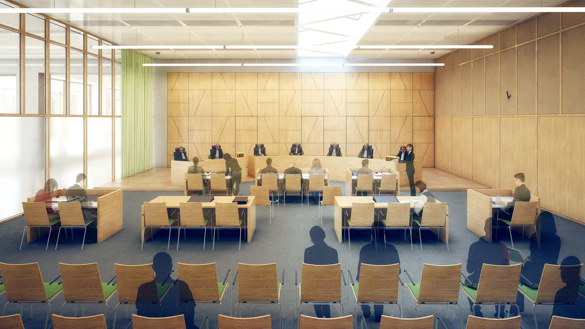 Gerechtsgebouw Breda door Paul de Ruiter, Rob Hootmans en Consortium InBalans