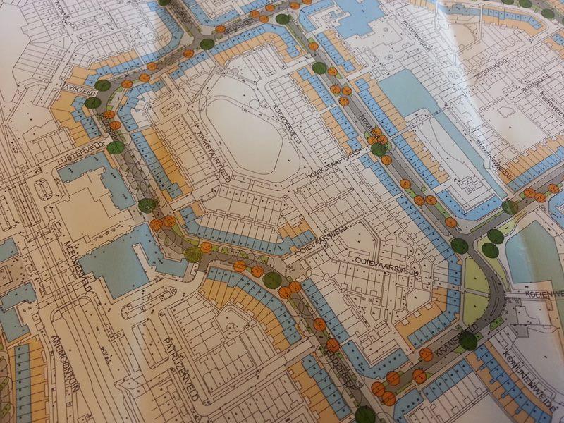Kaart van Seghwaert Zoetermeer over de Platananenkap