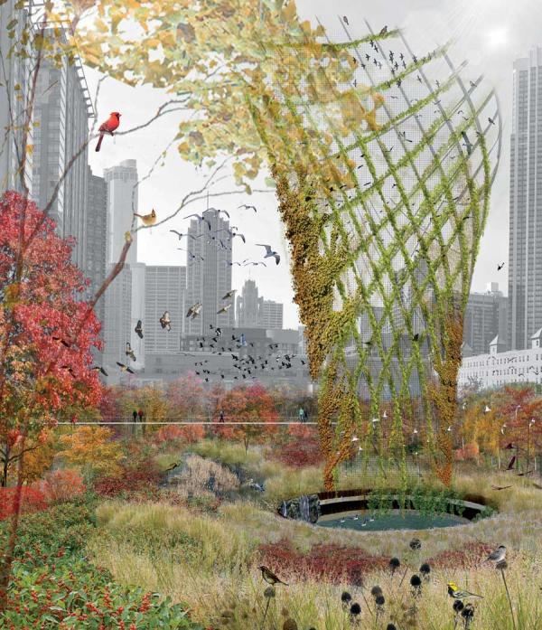 Horta_Hoerr Schaudt_Invulling Calatrava Chicago_Render Ster van de Week