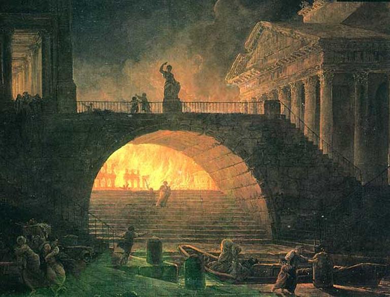 Hubert Robert Brand van Rome