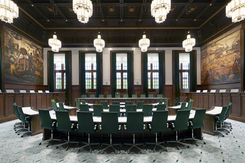 nominatie arc16 interieur award raadzaal stadhuis rotterdam demunnik dejong architecten merk x de architect