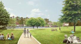 Aanleg Internationaal Park Den Haag van de baan