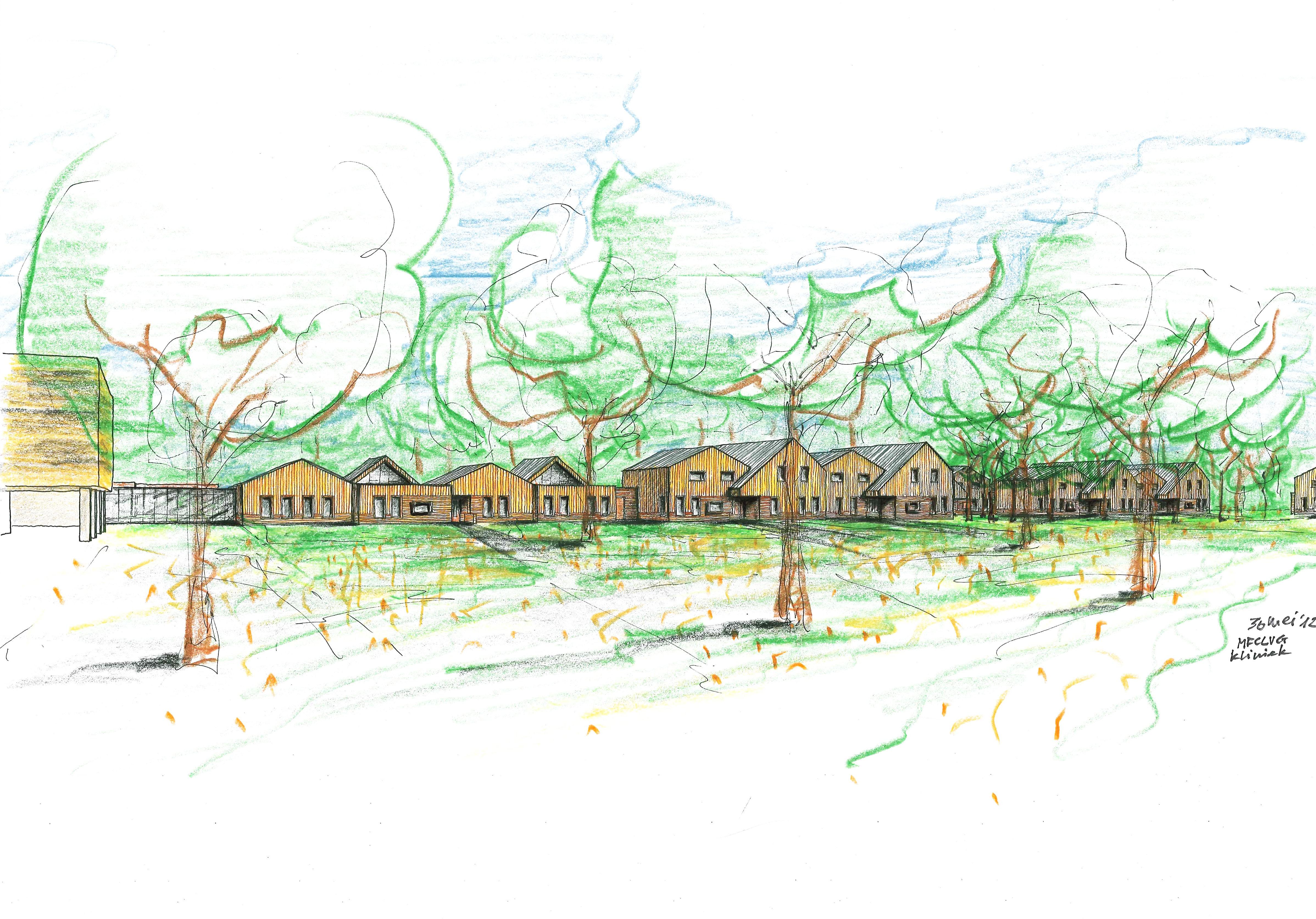Het toekomstige Herlaarhof naar een ontwerp van EGM Architecten