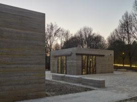 Informatiepaviljoen Park Johannisberg, Bielefeld door Max Dudler