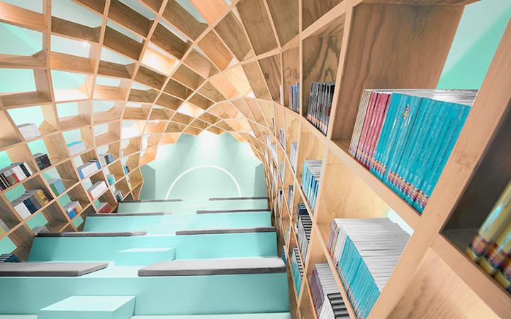 Bibliotheek Moneterrey Space Boekenkast Opinie Apers