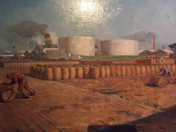 Petroleum opslag Opinie Harm Tilman Tentoonstelling Oliedam over Olie en architectuur