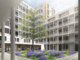 Hoogste punt woongebouw Square op Kop Zuidas