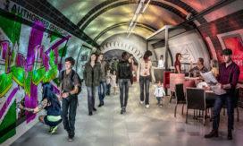 Fietsen in oude metrotunnels