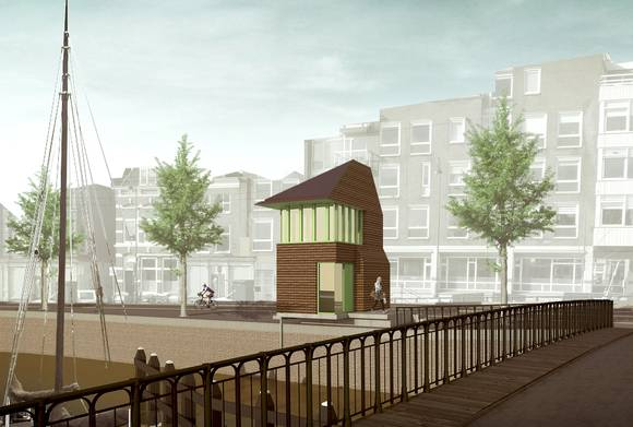 Melkhuisje_Brugwachtershuisje competitie Haarlem, ontwerp Marjolein Eig